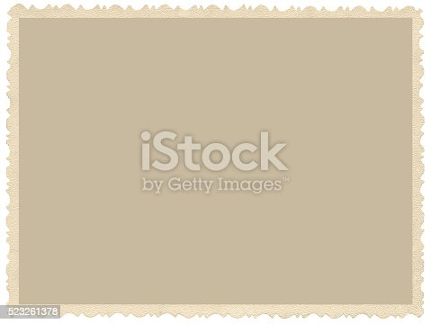 istock Old aged grunge edge sepia photo, blank empty horizontal background 523261378