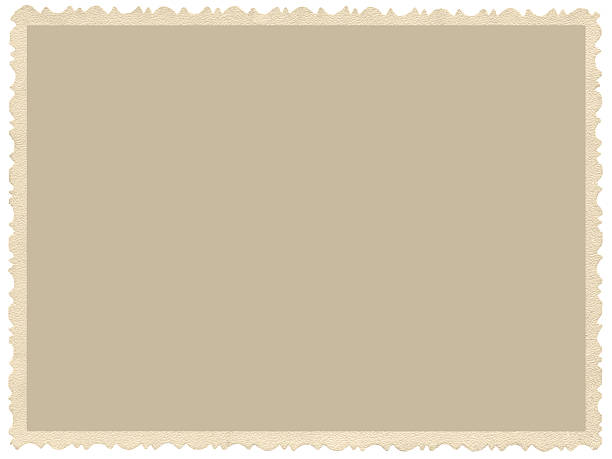 old aged grunge edge sepia photo, blank empty horizontal background - postcard template stock photos and pictures