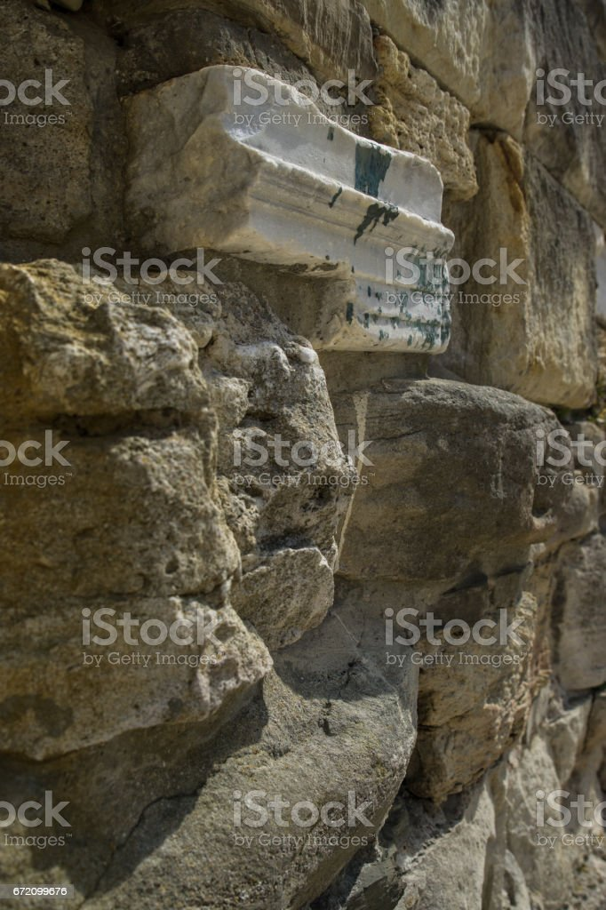 Old age-old stone masonry stock photo