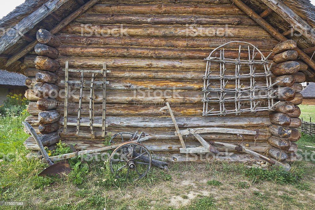 Old agricultural equipment stock photo