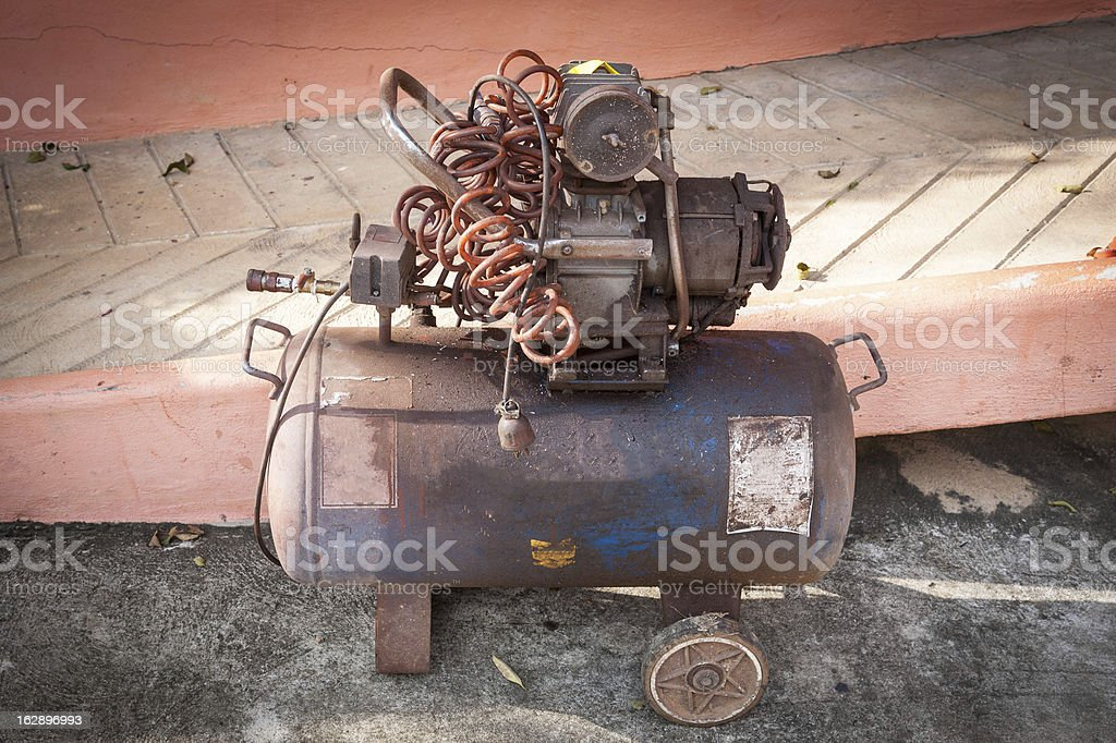 old air compressor royalty-free stock photo