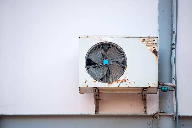 Alte Luftkompressor Einheit für Klimaanlage – Foto