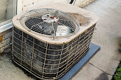istock Old air conditioner unit in need of updating 542190768