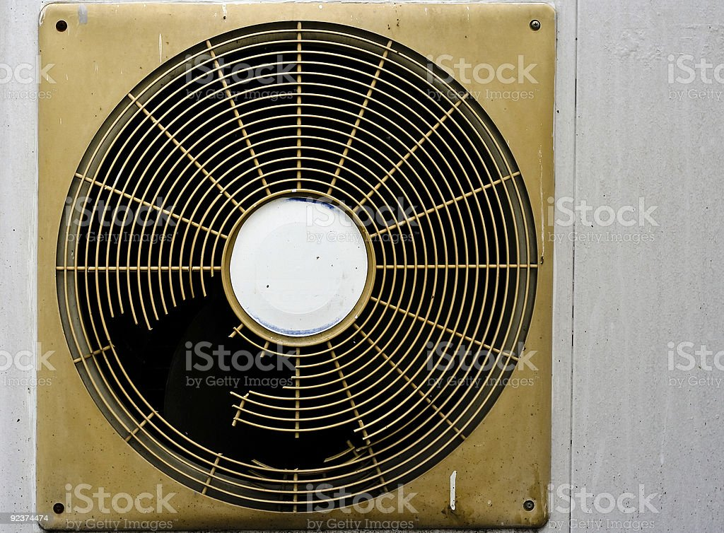 old aircon stock photo