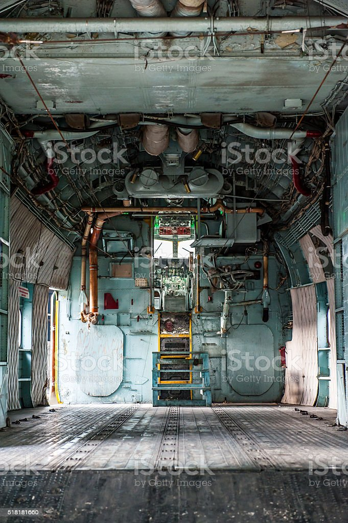 Old aircraft cargo stock photo