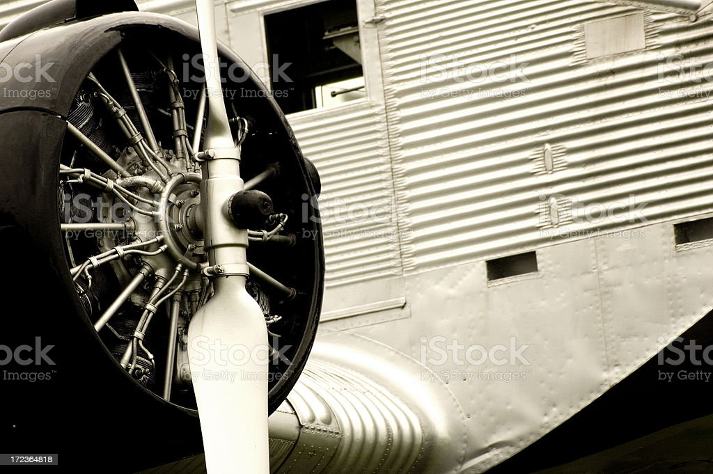 Old Aircraft stock photo