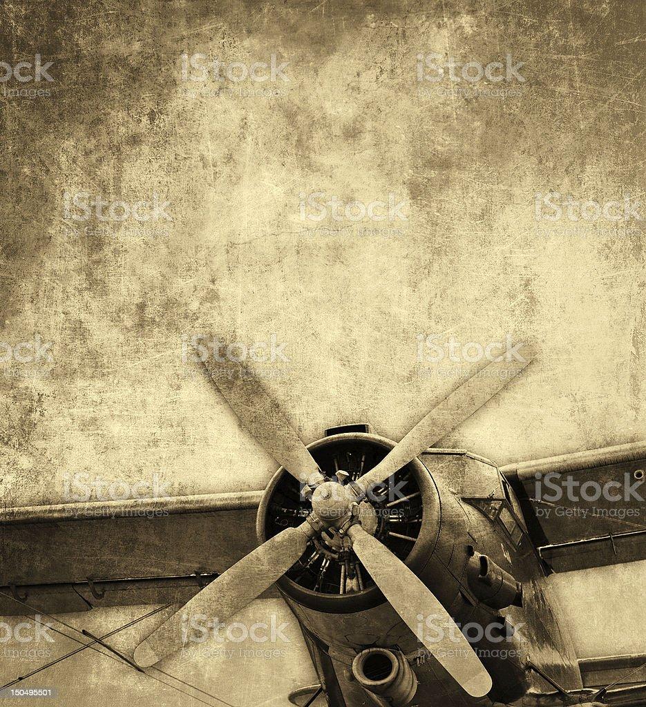Old Flugzeug, Nahaufnahme – Foto