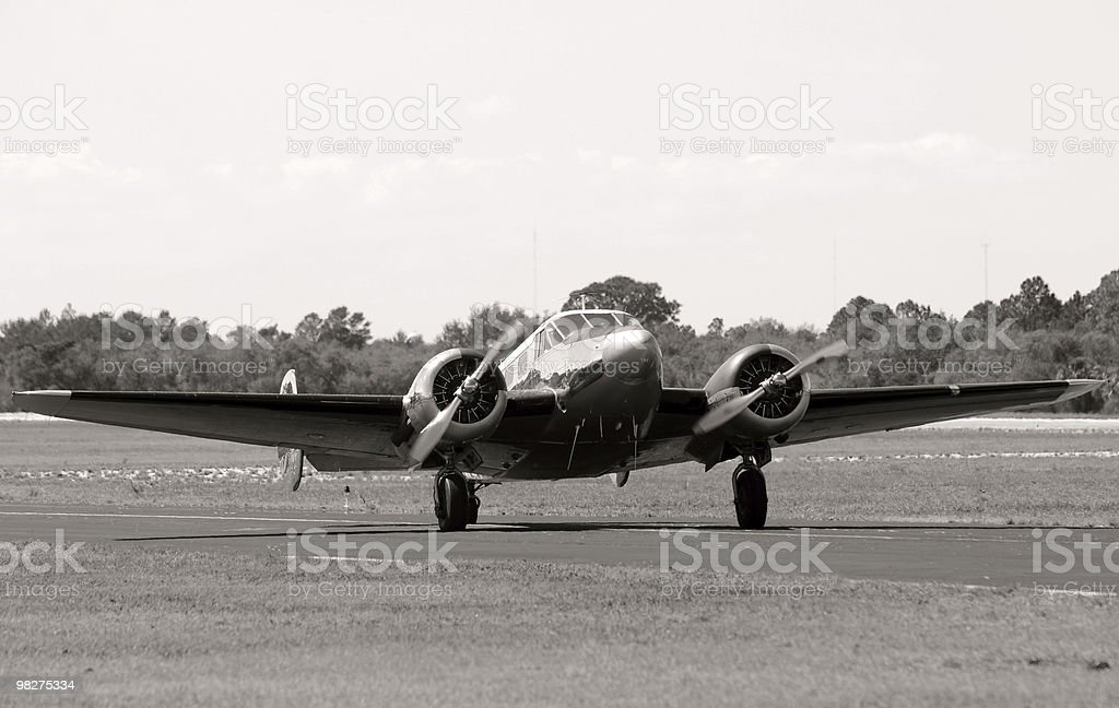 Old airplane on the ground royalty-free stock photo
