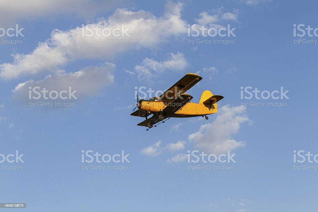 Old airplane royalty-free stock photo