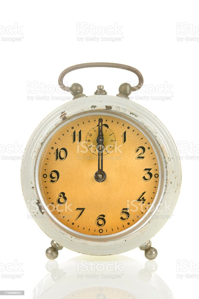 12 00 Old Alarm Clock royalty-free stock photo