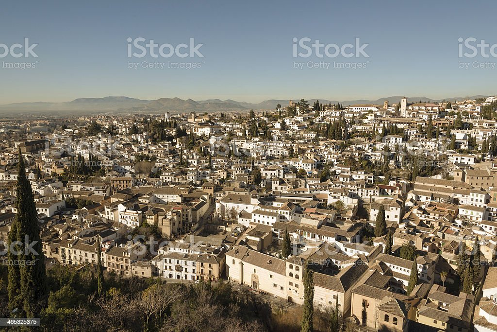 Old Albaicin district stock photo