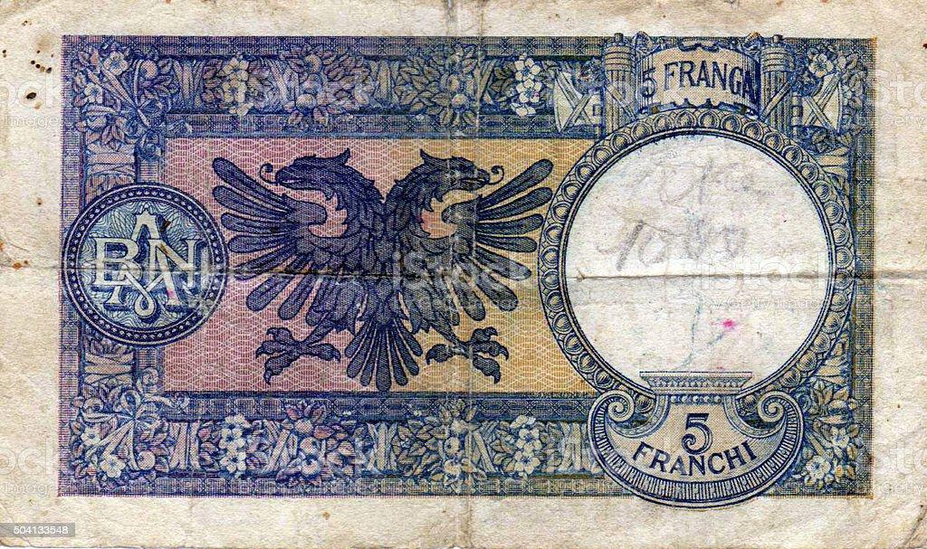 Old albania money stock photo