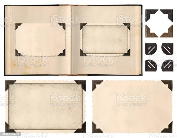 Old album book page photo frames corners isolated picture id1030034782?b=1&k=6&m=1030034782&s=612x612&h=kuhxvm5jn5dknsjssa02kaoph8qegeehclh0iakqm3m=