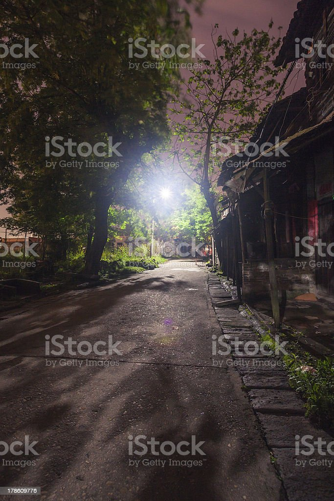 old alley at night royalty-free stock photo