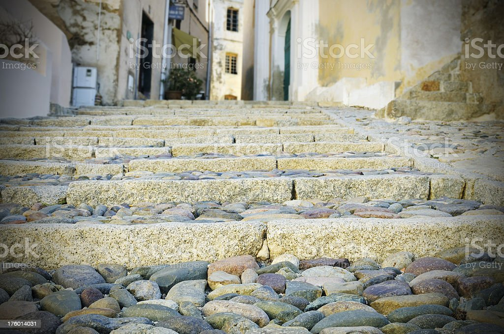 Old alley in Corsica France royalty-free stock photo