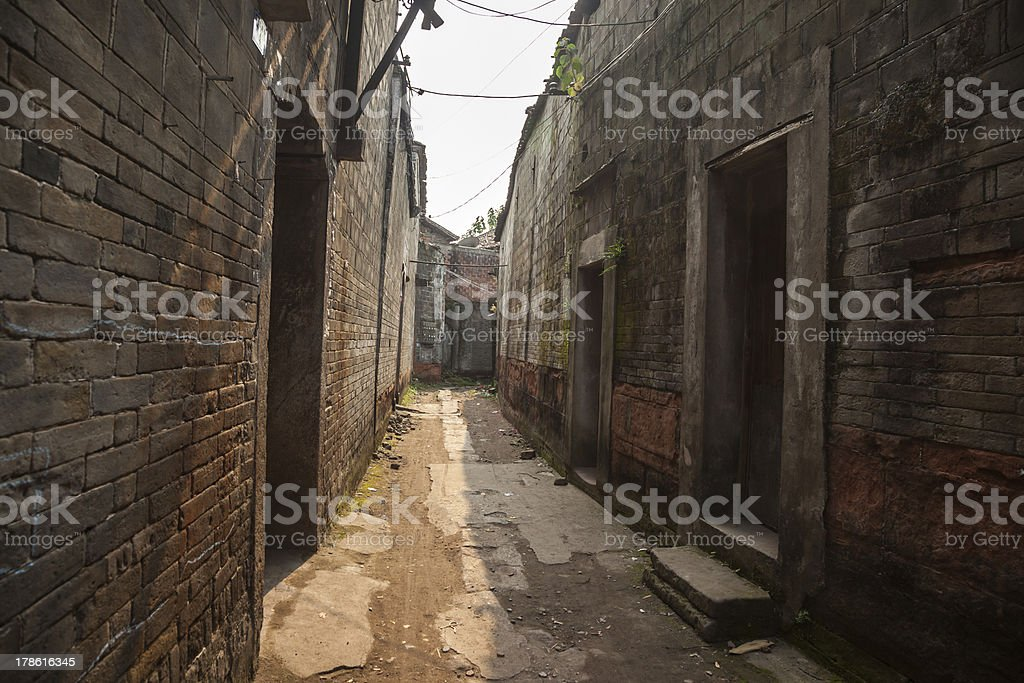 Old alley royalty-free stock photo