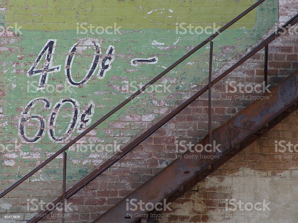 Old Alley Staircase royalty-free stock photo