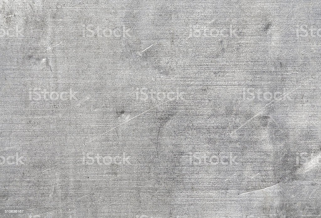 Old aluminium, scratches, dents. stock photo