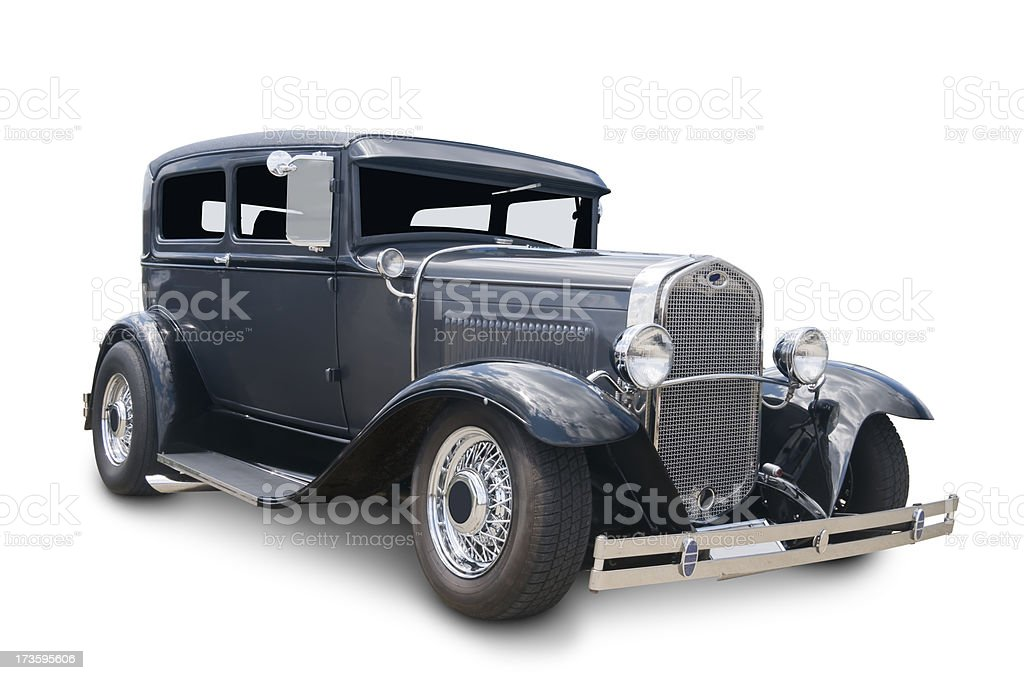 Old American Automobile royalty-free stock photo