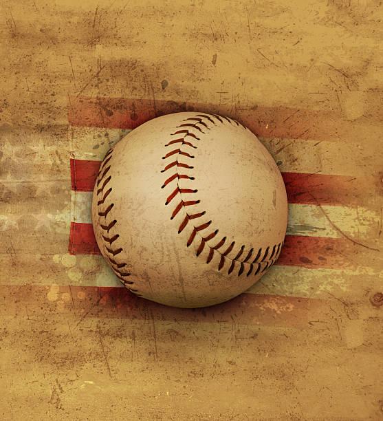 Old American baseball stock photo