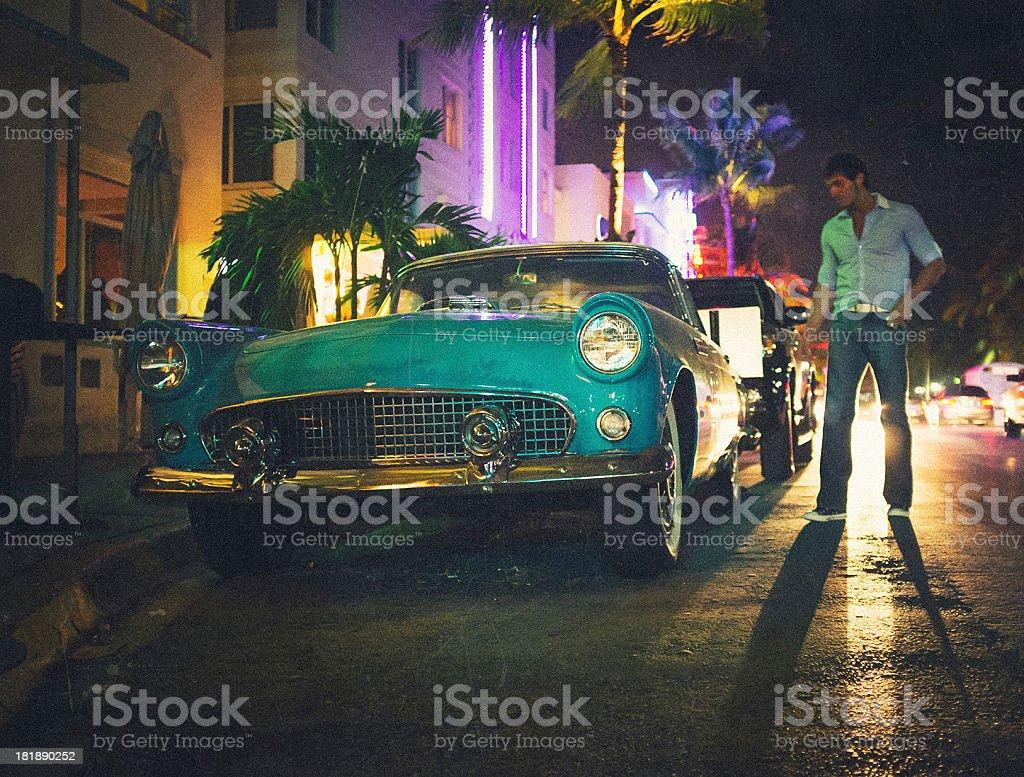 Deco Annee 50 Americaine photo libre de droit de vieille voiture américaine des