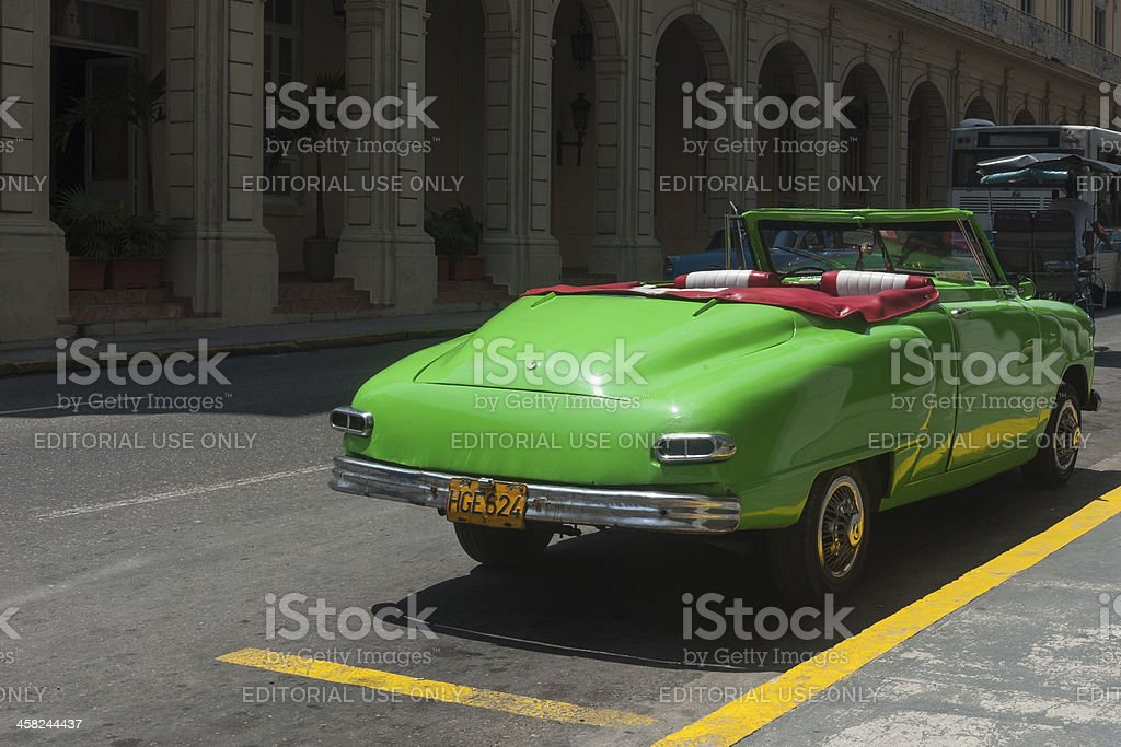 old american car in Havana, Cuba royalty-free stock photo