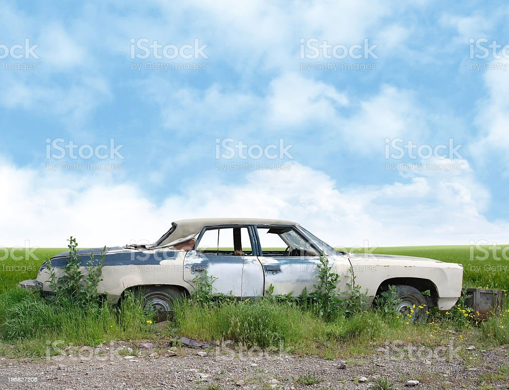 Old American Car royalty-free stock photo