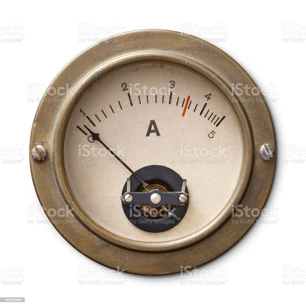 Old ammeter stock photo