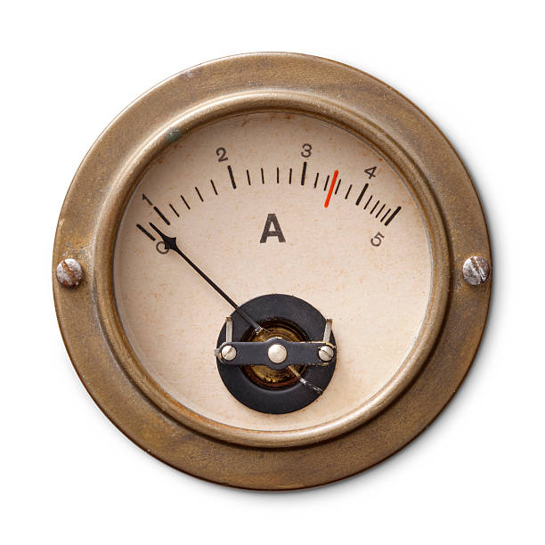 Old ammeter Old ammeter. meter instrument of measurement stock pictures, royalty-free photos & images