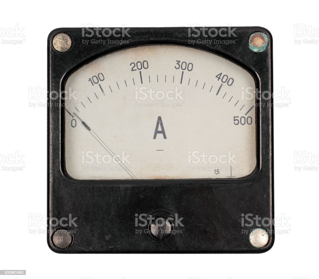 Old ampermeter stock photo