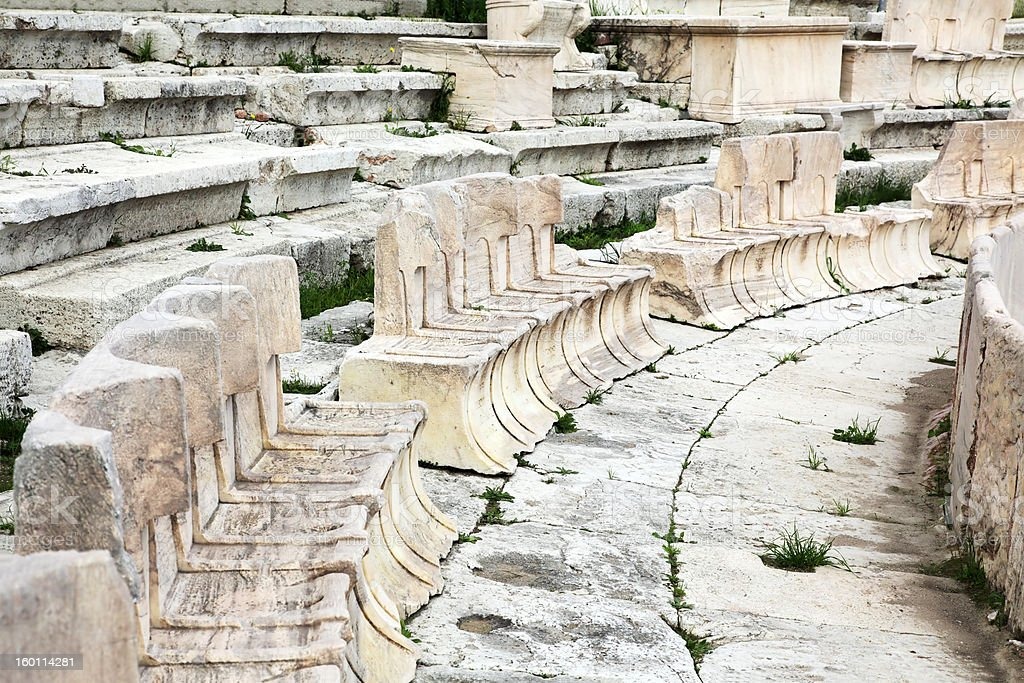 old amphitheater royalty-free stock photo