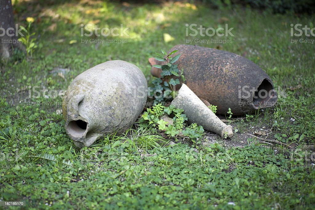 Old Amphoras royalty-free stock photo