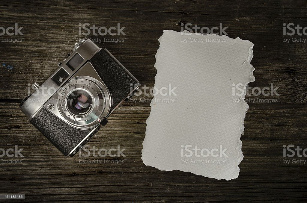 Old analog Camera with copy space royalty-free stock photo