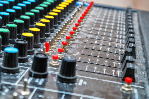Old analog mixing console