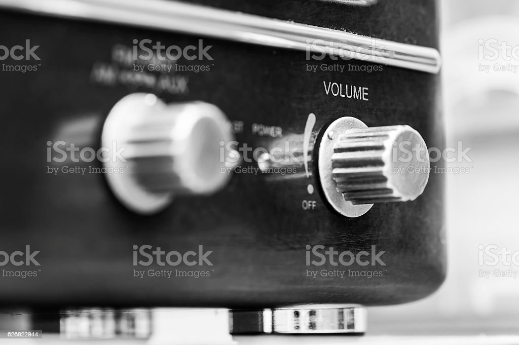 Old analog radio reciever stock photo