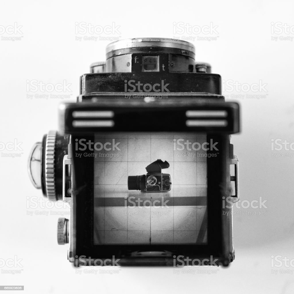 Old analogue cameras stock photo