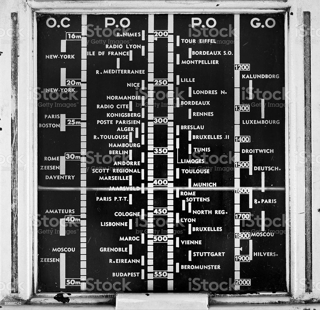 old analogue radio stock photo