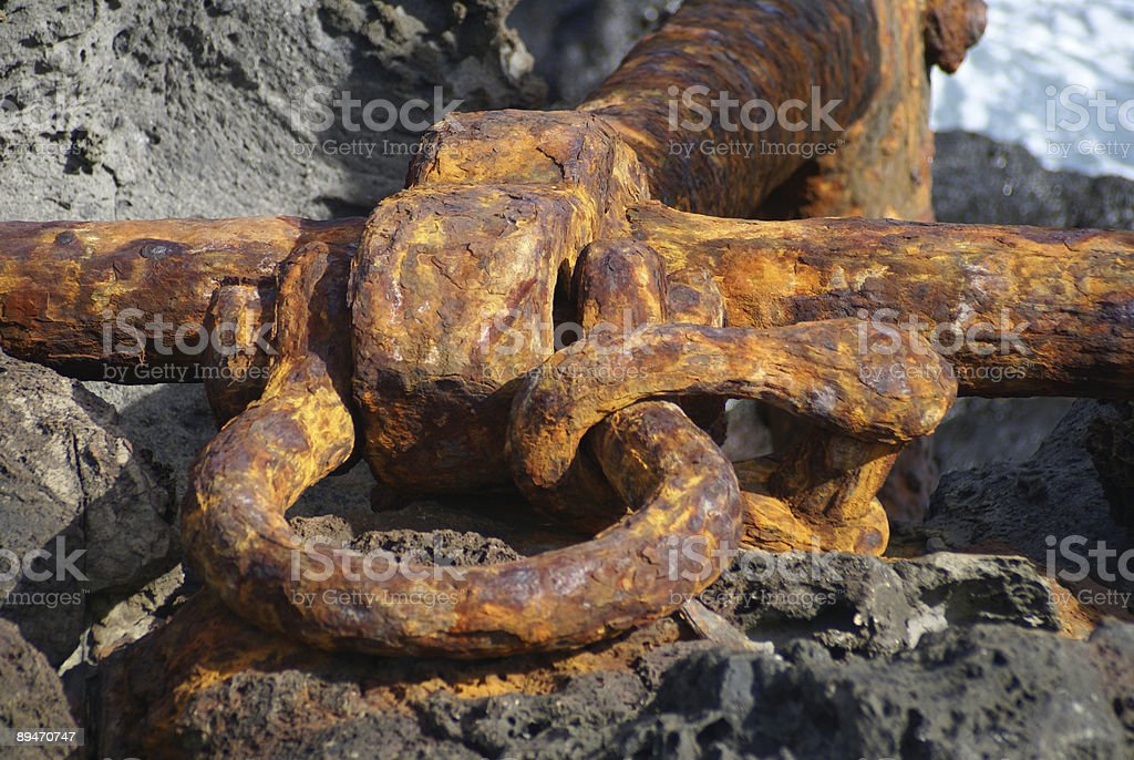 old anchor royalty-free stock photo