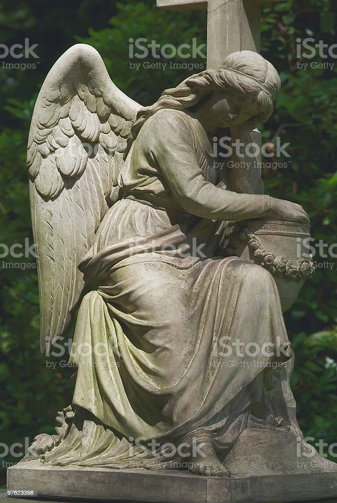 Vieux antique Statue des Angels photo libre de droits