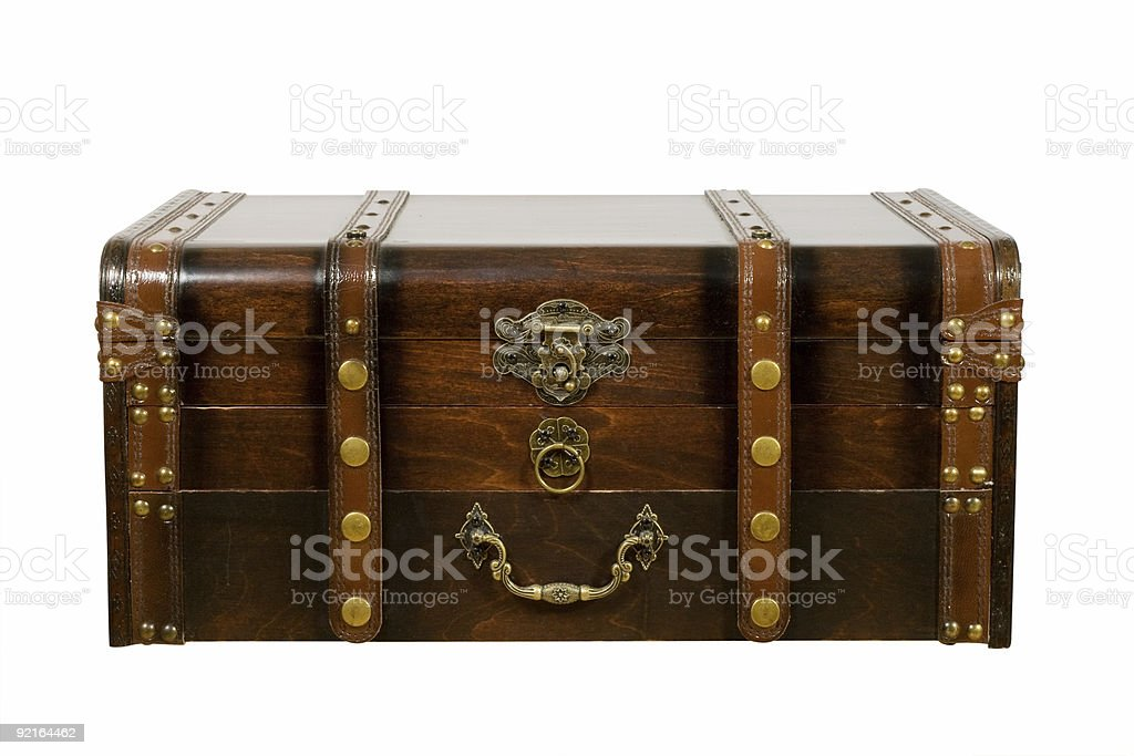 Old ancient chest stock photo