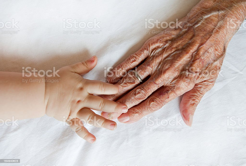 old and child stock photo