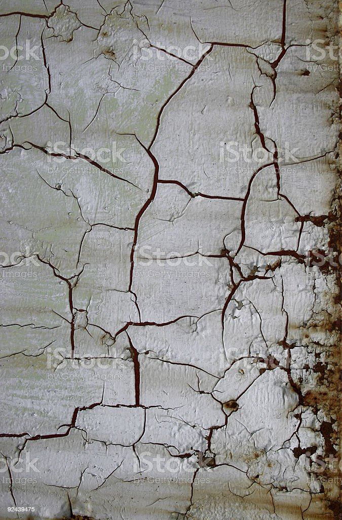 Old and cracked paint - Grunge royalty-free stock photo