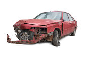 istock Old and Damaged Car 186878965