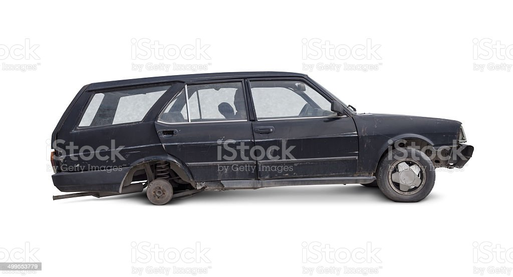 Old and Damaged Car royalty-free stock photo