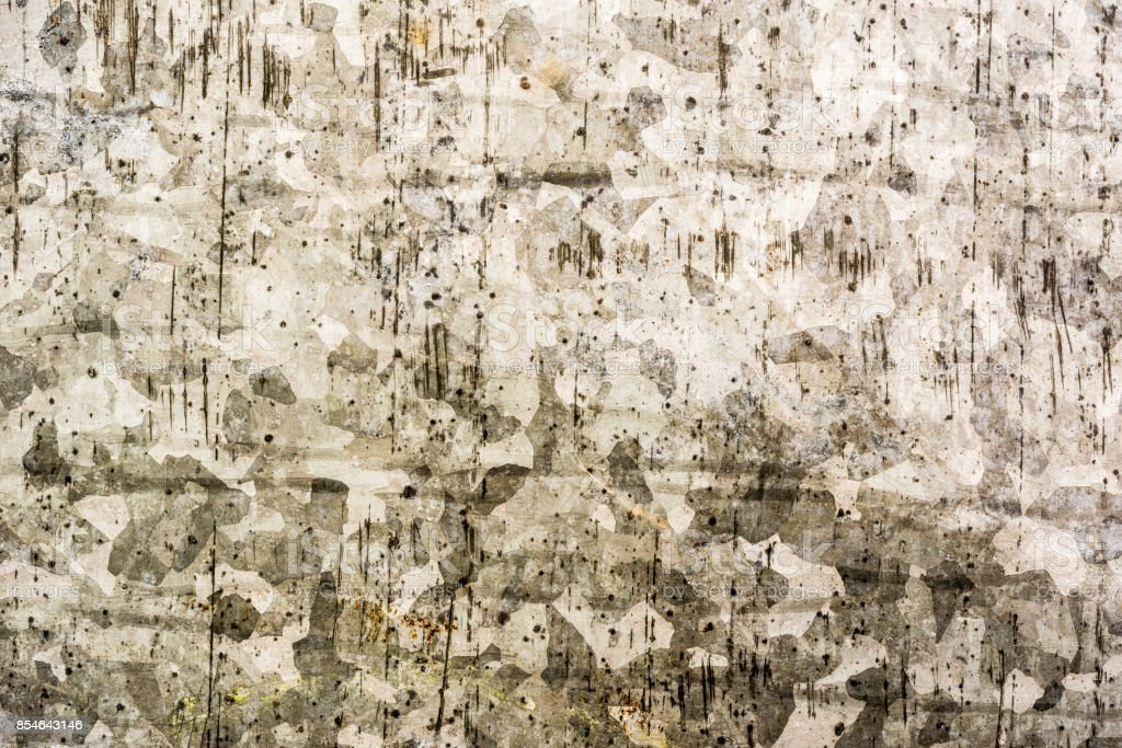 Old and damaged sheet metal coated with zinc stock photo