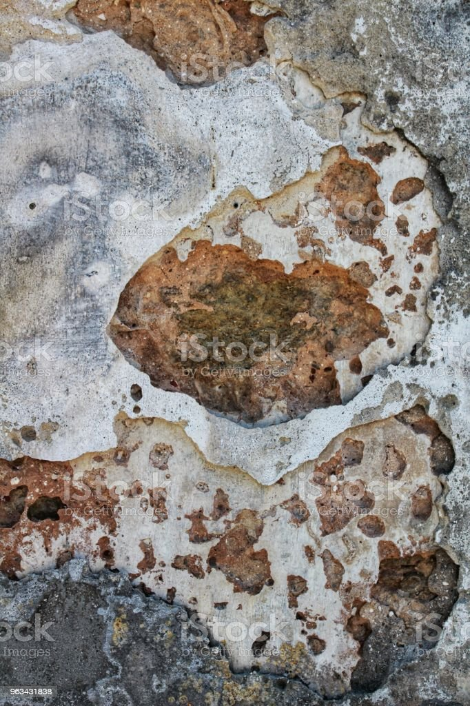 Stara i uszkodzona tekstura ściany - Zbiór zdjęć royalty-free (Architekt)
