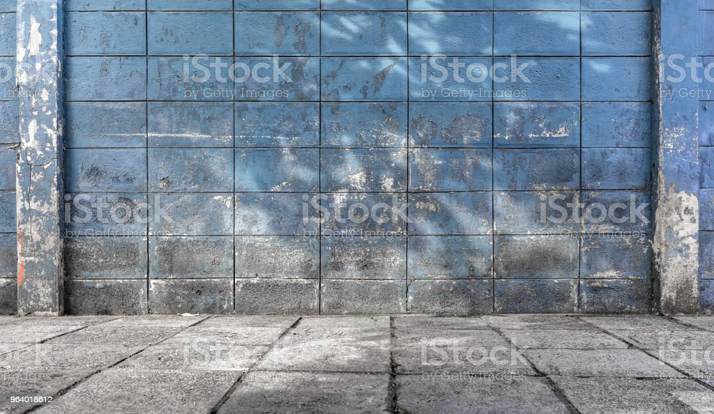 old and dirty cement block walls textured grunge background - Royalty-free Abstract Stock Photo
