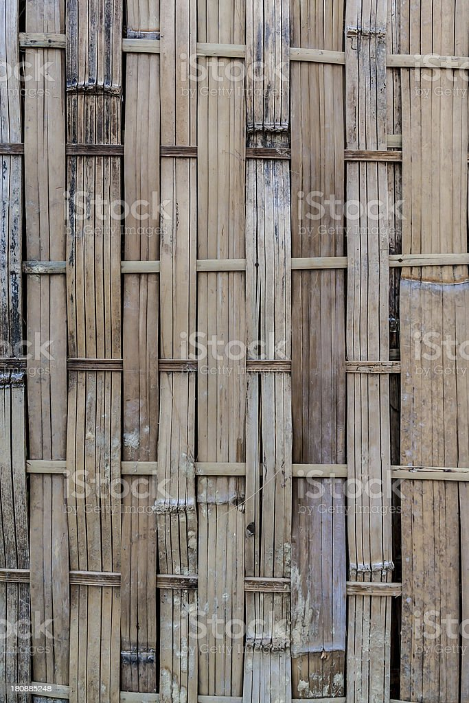 Old and dirty woven bamboo royalty-free stock photo