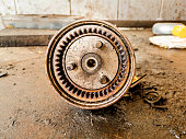 istock old and dusty and rusty vehicle parts at car maintenance workshop 1159469020