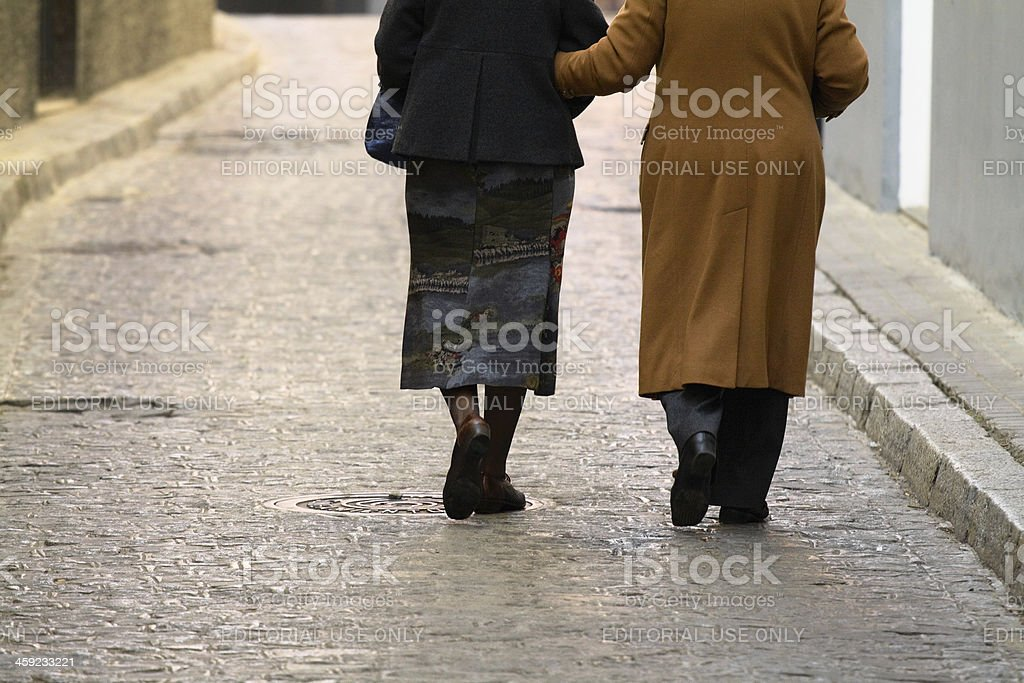 Old and elder royalty-free stock photo